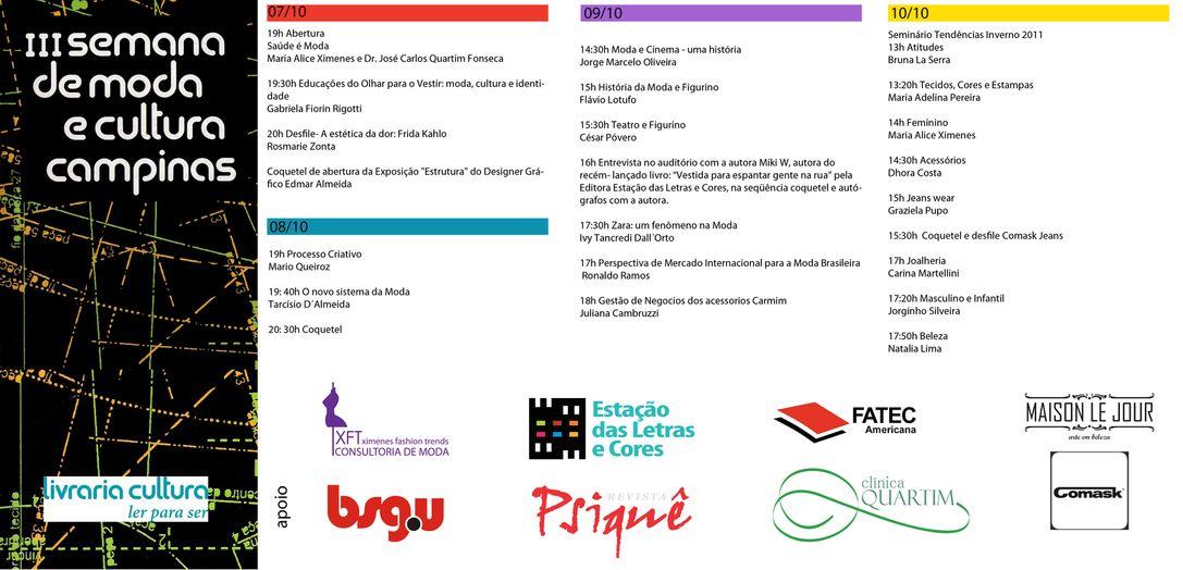 Circuito Arq+Decor Semana-de-moda-e-cultura-Campinas-2010 III Semana de Moda e Cultura Campinas - De 07 a 10 de outubro NEWS