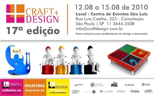 Circuito Arq+Decor craft 17ª Edição - CRAFT DESIGN NEWS