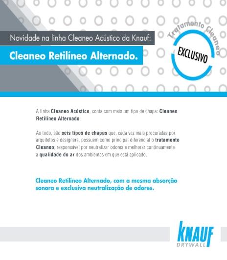 Circuito Arq+Decor knauf3 Knauf - Novidade na Linha Cleaneo Acústico DICAS - Produtos e Serviços