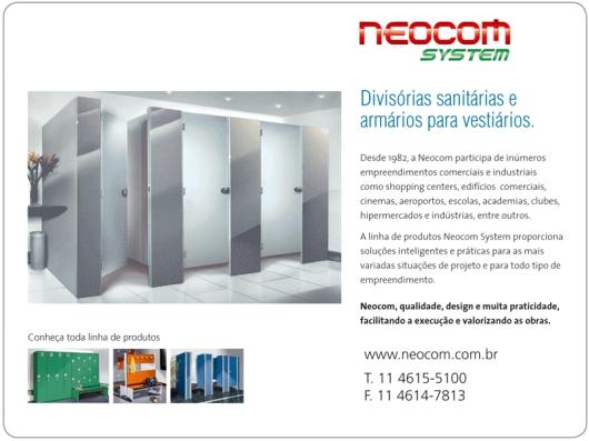Circuito Arq+Decor neocom Neocom - Divisórias sanitárias e armários para vestiários DICAS - Produtos e Serviços