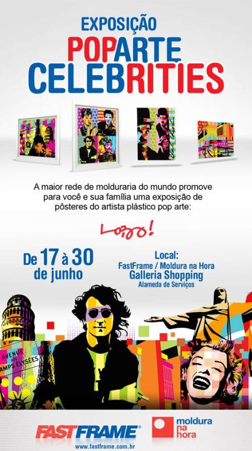 Circuito Arq+Decor pop-fastframe Exposição Pop Art Celebrities 17/06 - FastFrame Galleria Shopping NEWS