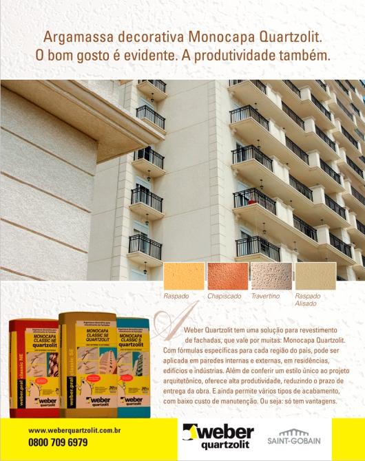 Circuito Arq+Decor quartzolit-fachada Monocapa Quartzolit – Soluções minerais para fachadas NEWS